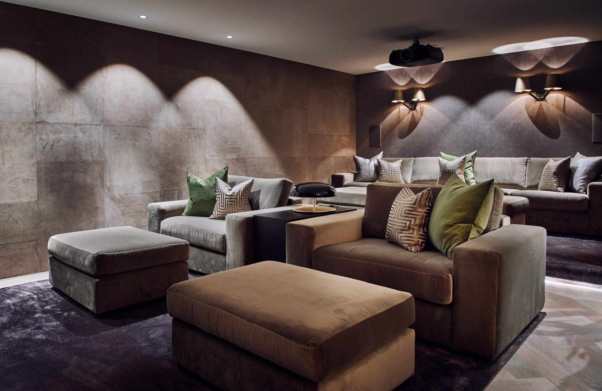 luxurious interior design cinema