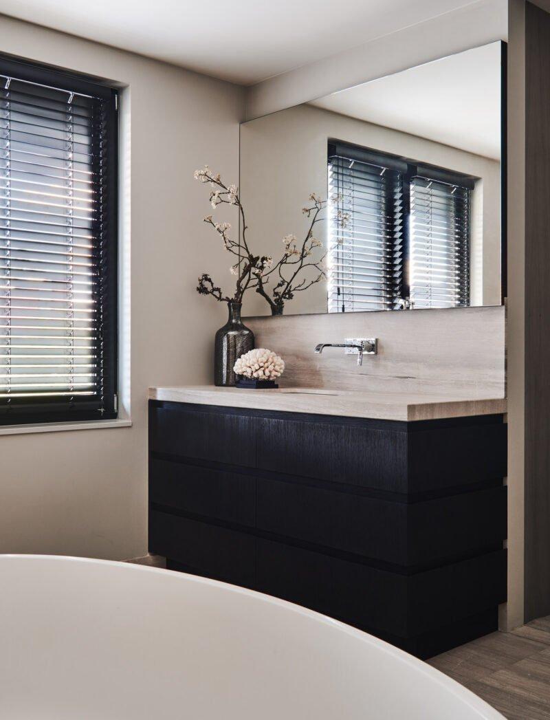 luxurious interior bathroom sink beige