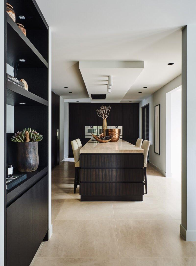 interior design bronze detail kitchen